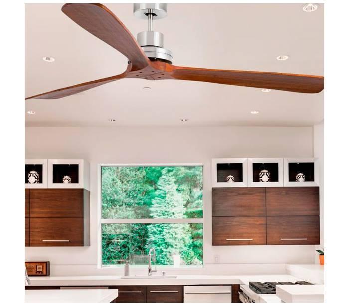 Ventiladores de techo faro lantau g de madera natural - Ventiladores de techo de madera ...