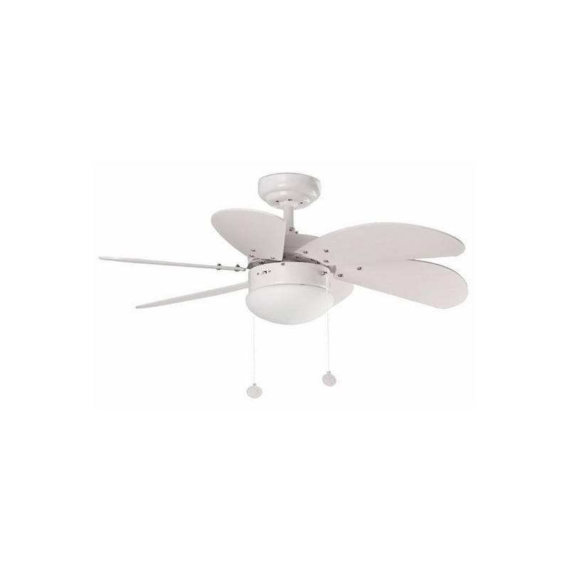 Ventilador de techo color Blanco con luz modelo PALAO