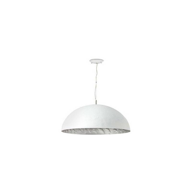 Lámpara colgante techo Fibre de Vidrio MAGMA P para Interior Blanco-Plata E27