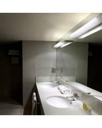 Aplique de Acero OPAL Niquel Mate ambiente fluorescente de pared