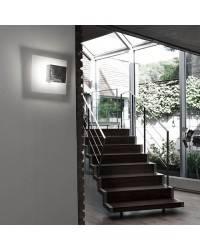 Aplique de aluminio ORIENT Cromo ambiente halógeno de pared