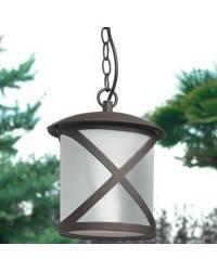 Lámpara Colgante para Exterior CROSS Marrón Óxido
