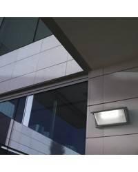 Apliques para Exterior CURIE-2-G Aluminio Gris Urbano