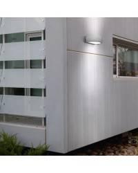 Apliques para Exterior DELFOS-P Aluminio Gris E-27