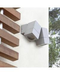 Apliques para Exterior ICARO 2 focos Aluminio Gris