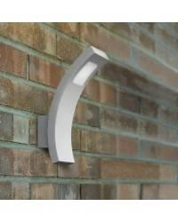 Apliques para Exterior SHARPE LED Aluminio Gris