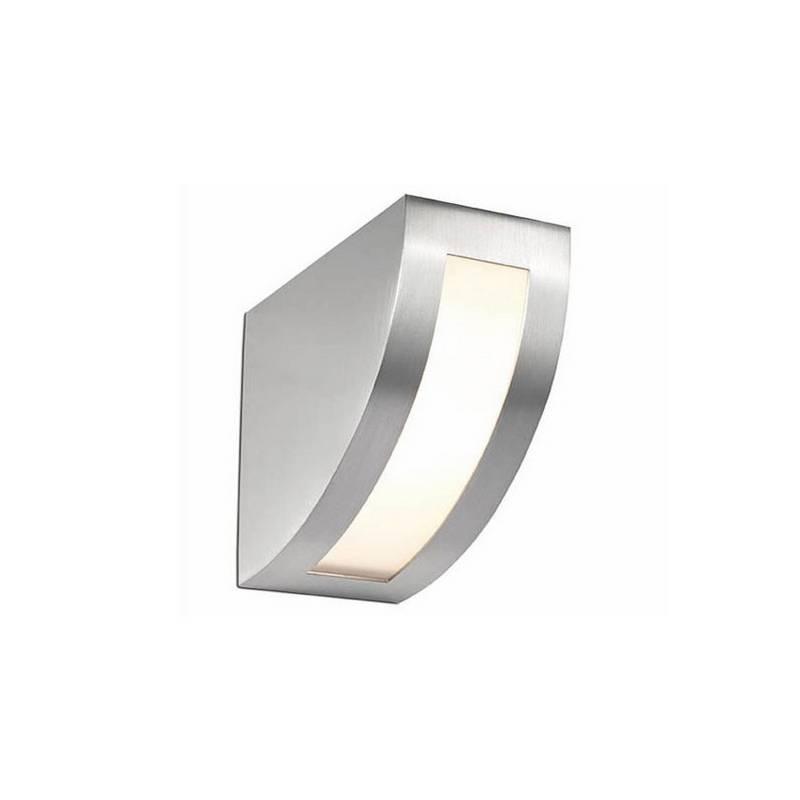 Aplique de fundición aluminio QUART Niquel Mate ambiente halógeno de pared