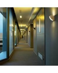 Aplique de fundición aluminio QUART Plata ambiente halógeno de pared