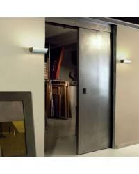 Aplique de latón URANO Plata ambiente halógeno de pared