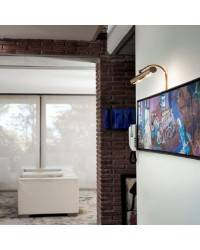 Aplique de Latón-Acero APLIQUES Baño Oro ambiente de pared E-14 difusor 250mm.