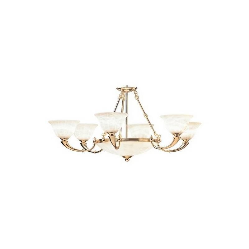 Lámpara Colgante TROMPETA de Alabastro 9 luces