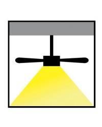 Ventilador de Techo con luz CEOS LED Blanco Brillante