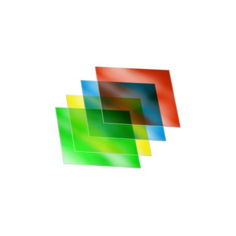 Kit de 4 filtros de color - Amarillo, Verde, Azul y Rojo