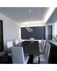 Lámpara Colgante SVEN LED Aluminio Cepillado