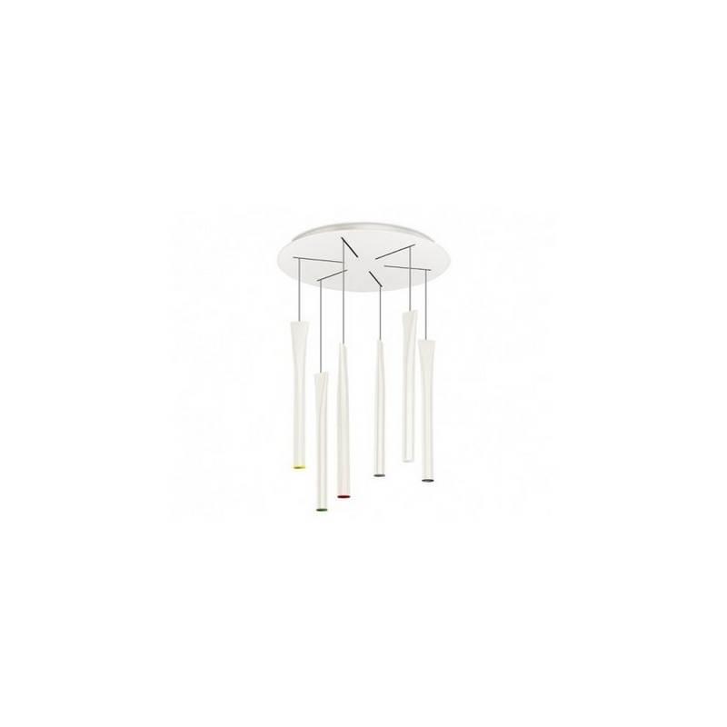 Lámpara Colgante ROCKET LED Blanco Antiguo 6 luces