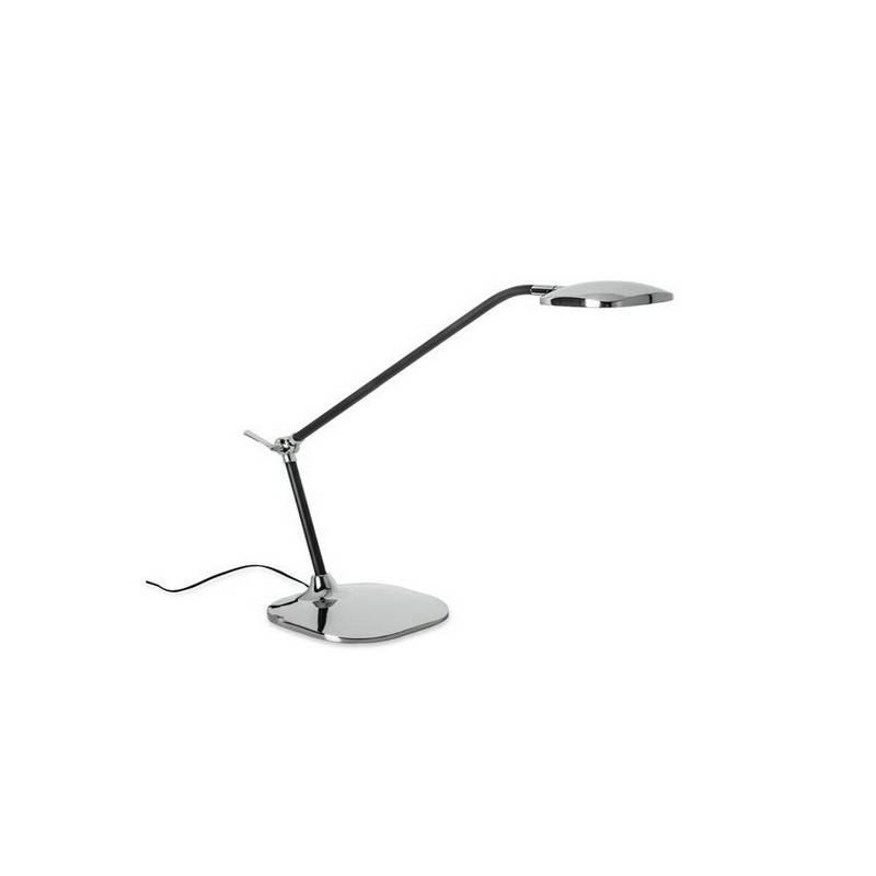 Lámpara de Sobremesa QUEEN LED Cromo y Negro