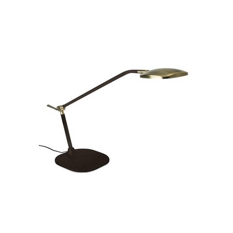 Lámpara de Sobremesa QUEEN LED Patiné y Marrón Envejecido