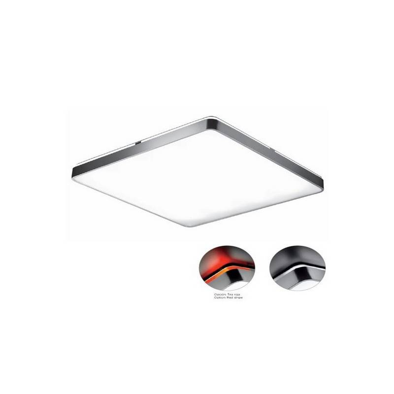 Plafón de aluminio ARCOS bajo consumo de techo color Cromo