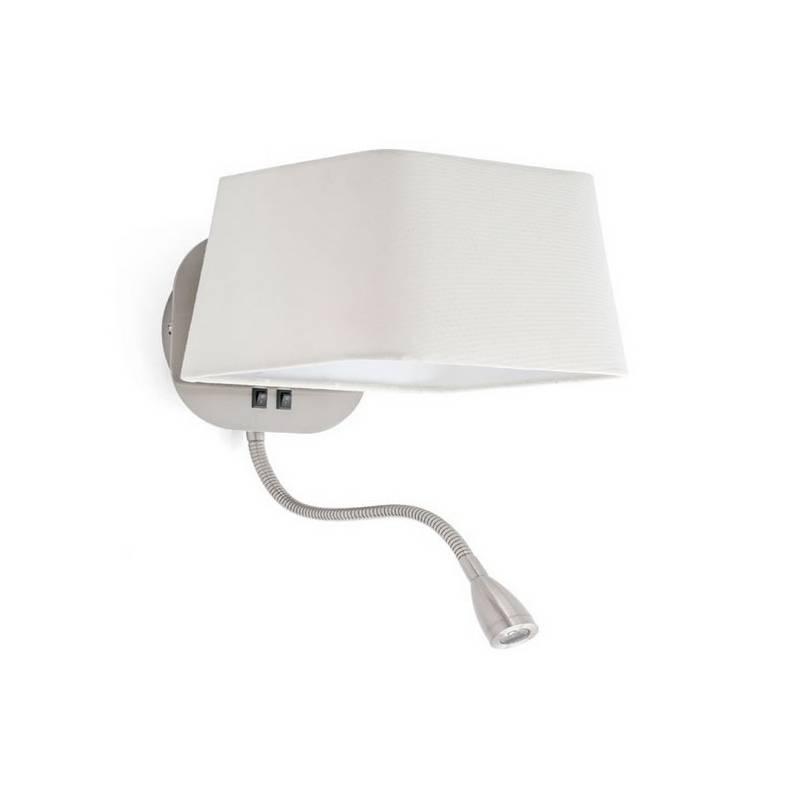 Apliques de pared blanco con LED lectura Faro SWEET