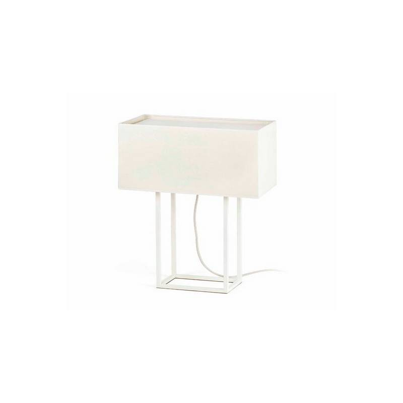 Lámparas de Sobremesa blanca + beige Faro VESPER