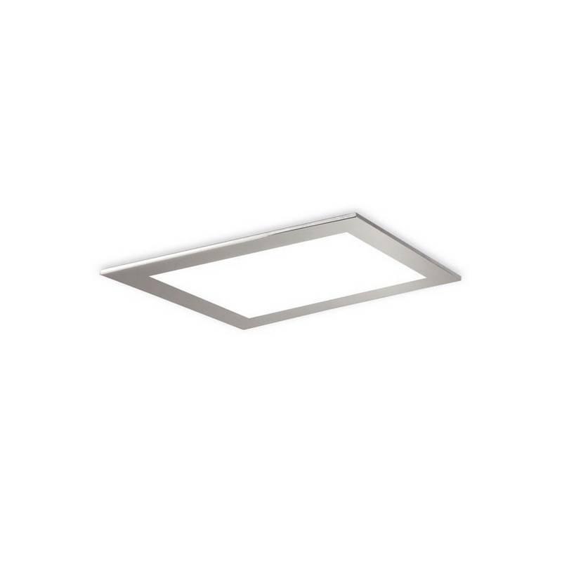 Plafón de Plata ATENEA LED's de techo color Niquel Mate con marco
