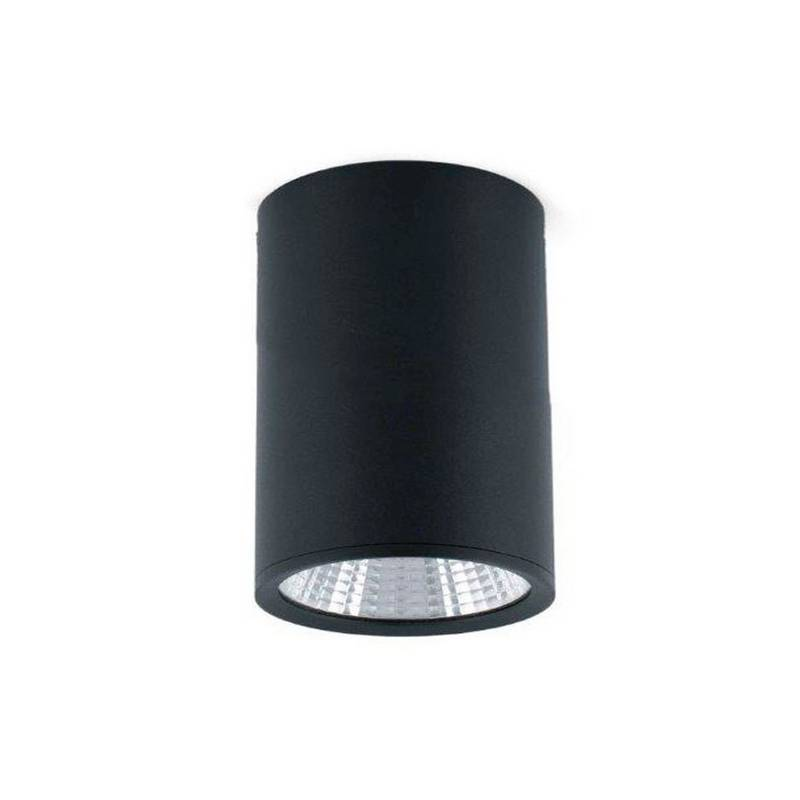 Foco Plafón LED negro Faro REL