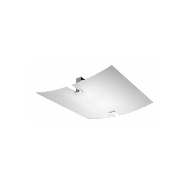 Plafón de latón PRISMA halógeno de techo color Cromo