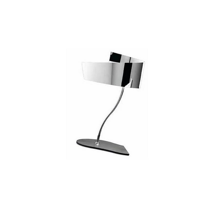 Lámpara de Sobremesa Aluminio  Cromo  1 X E-27 PL 18w 220V