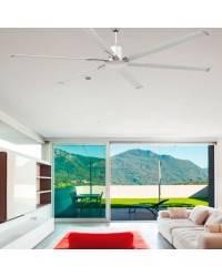 Ventiladores de techo Extra Grandes Faro ANDROS níquel mate