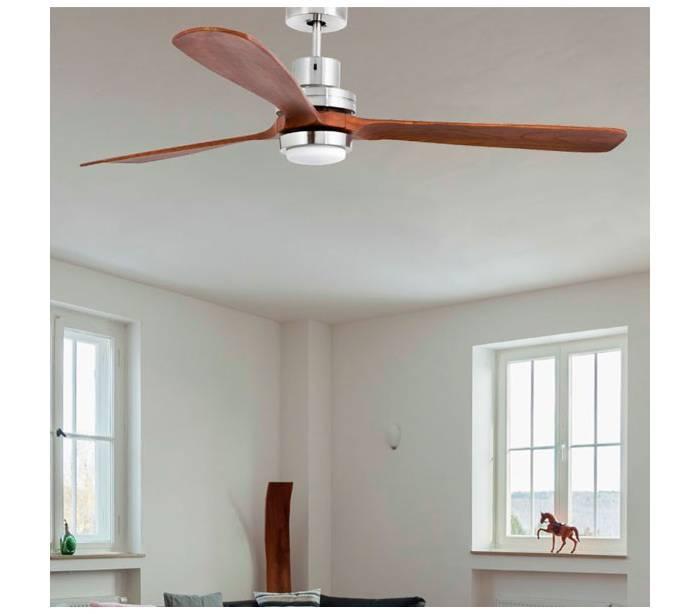 Ventiladores de techo con luz led faro lantau g de madera - Ventiladores de techo de madera ...