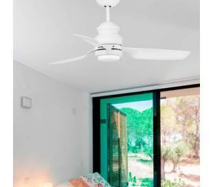 Ventiladores de techo con luz LED Faro PHUKET blanco