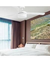 Ventiladores de techo con luz Faro PANAY blanco