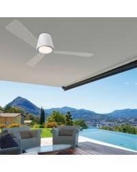 Ventiladores de techo con luz Leds C4 GARBÍ blanco LED