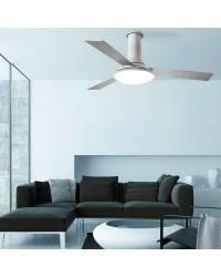 Ventiladores de techo con luz Leds C4 FUS Gris LED