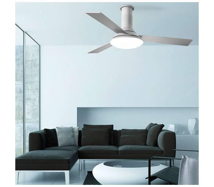 Ventiladores de techo con luz leds c4 fus gris led - Ventiladores con luz de techo ...