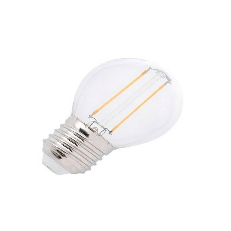 Bombilla LED E27 Esférica G45 2W 220Lm 2700K Filamento