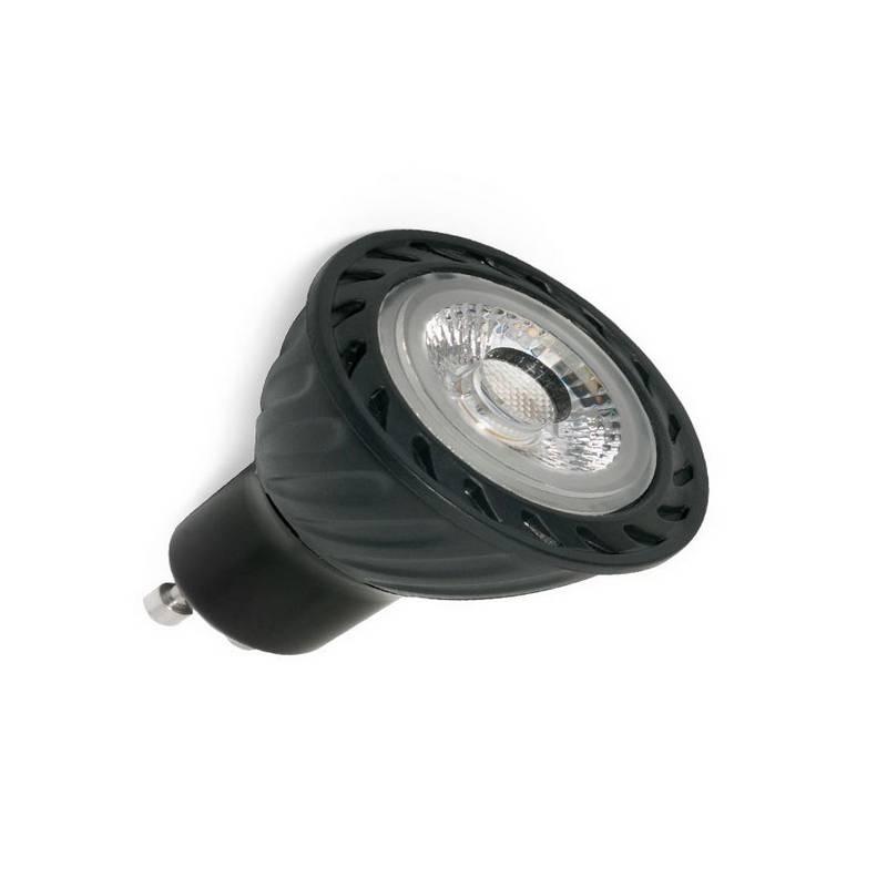 Bombilla LED GU10 8W 500Lm 2700K Negra