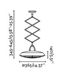 Lámpara Colgante LED Extensible Faro PLEC Blanco Roto