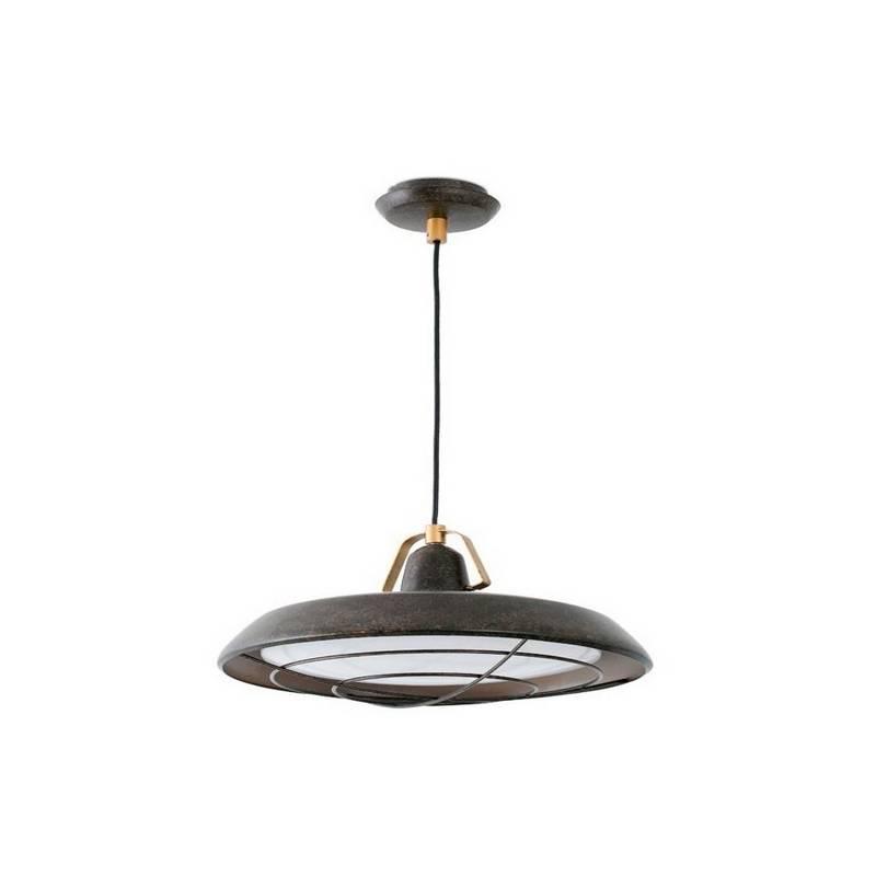Lámpara Colgante LED Faro PLEC Marrón envejecido