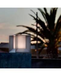 Lámpara sobremuro LED Faro MILA gris oscuro