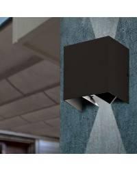 Aplique de Exterior LED Faro OLAN gris oscuro