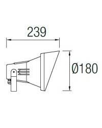 Proyector Leds C4 SPARTA Gris E27 PAR38