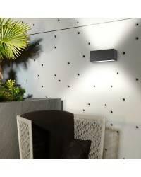 Aplique de Exterior LED 19W Leds C4 AFRODITA 3000K 2120 lm Gris Urbano