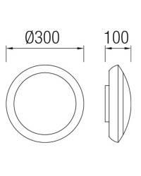 Plafón de Exterior LED 11W Leds C4 LOFT 3000K Negro