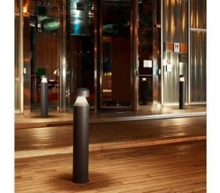 Balizas de Exterior LED 23W Leds C4 CILIN 3000K 1m Gris Urbano