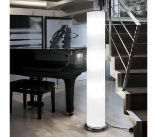 Lámpara de Pie de Salón de Acero Cromo  - 2x T5 54W con Regulador