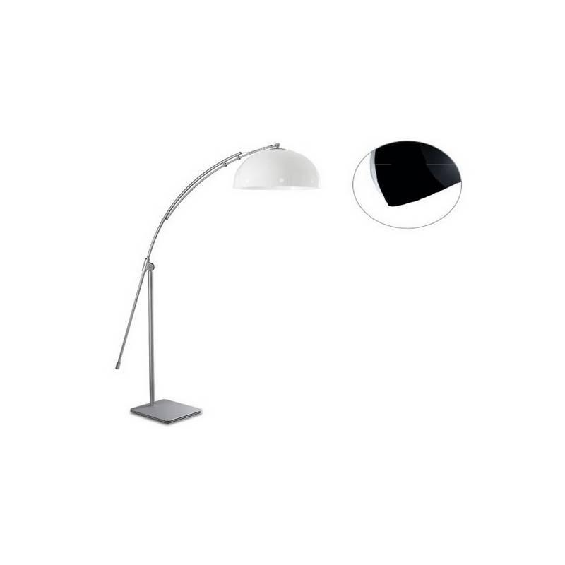 Lámpara de Pie de Salón Niquel Mate Color Negro de Acero  - 1 E-27  60W MAX. 220V