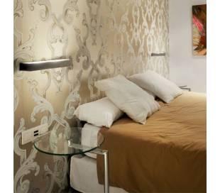 Aplique de latón APOLO Blanco ambiente halógeno de pared