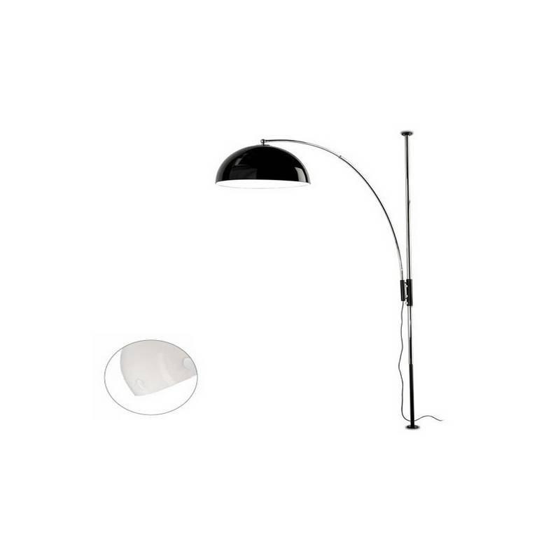 Lámpara de Pie de Salón Plata Color Blanco de Acero  - 1 E-27  60W MAX. 220V