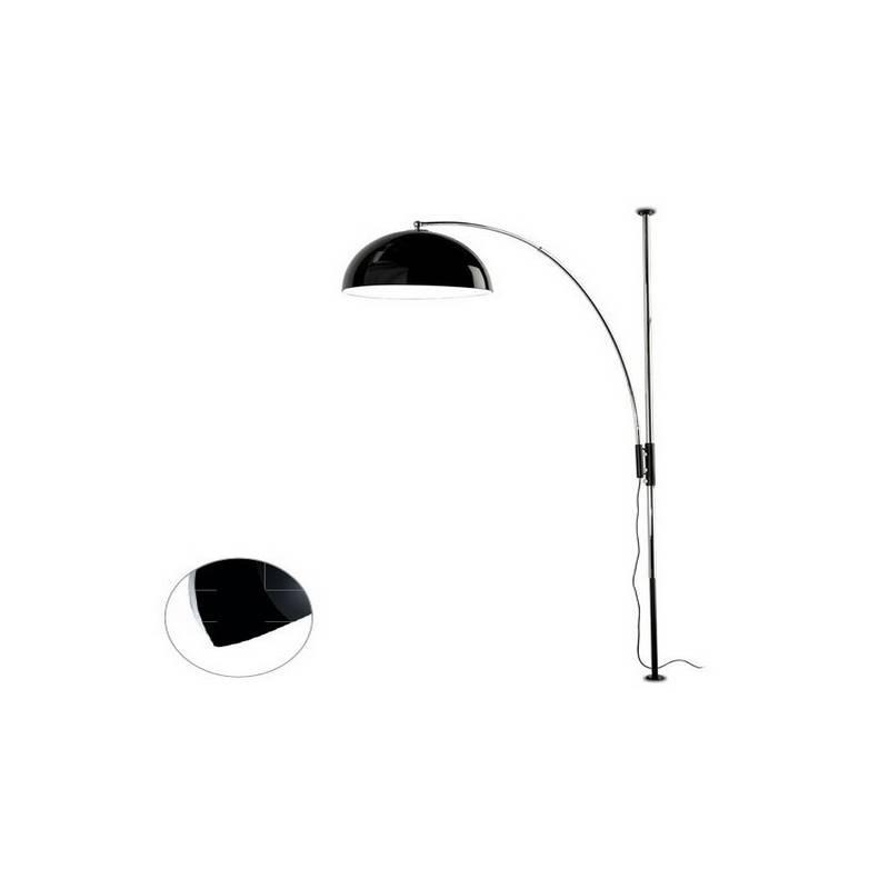 Lámpara de Pie de Salón Plata Color NEGRO de Acero  - 1 E-27  60W MAX. 220V